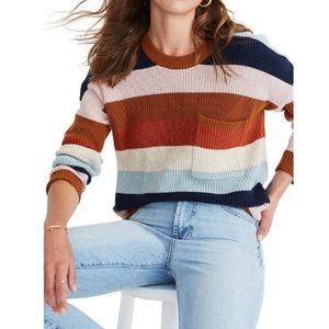 Madewell Pullover Sweater in Rainbow Stripe